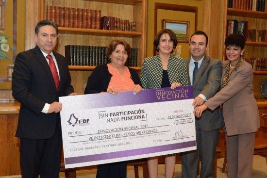 Premia IEDF a vecinos por proyectos innovadores