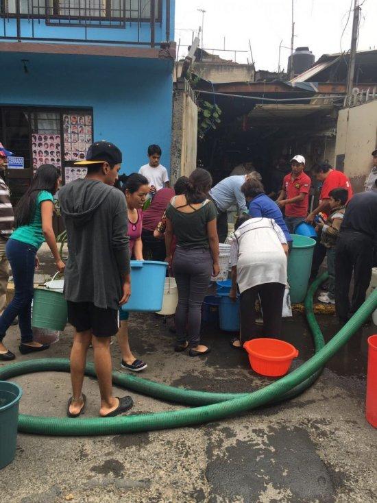En Iztapalapa, 1.5 millones de personas no tienen agua por sismo