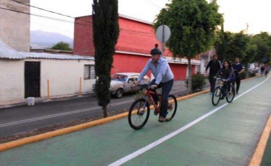 Quijano sale a pedalear en Magdalena Contreras