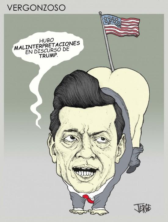 Vergonzoso Trump