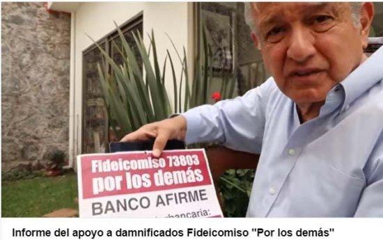 Morena aporta 6 mdp para damnificados de la CDMX