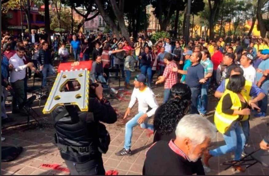 A sillazos se enfrentan PRD y Morena en Coyoacan