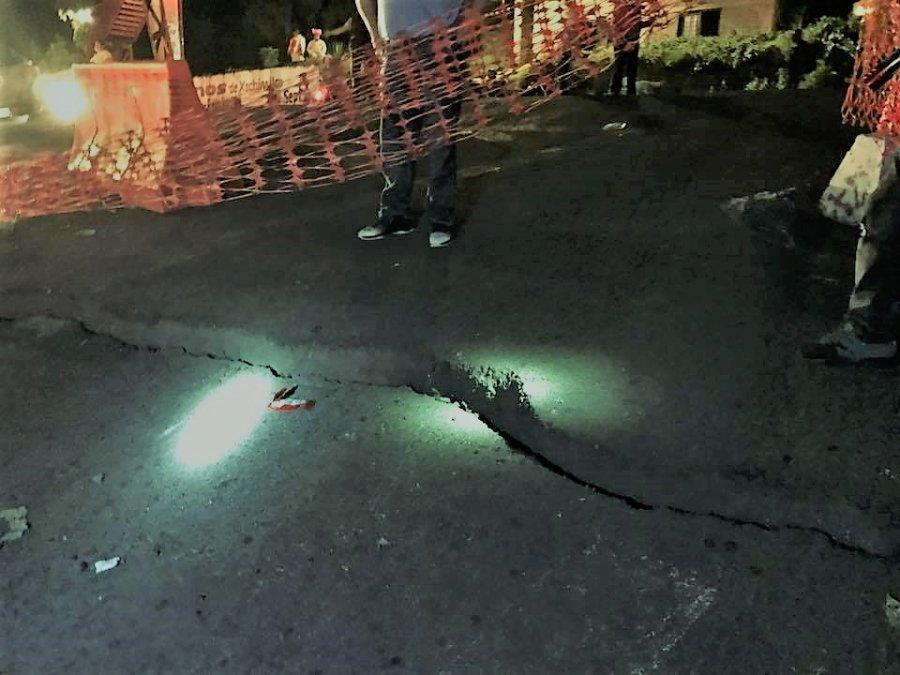 Acusan negligencia para evitar grietas en Carretera Xochimilco-Tulyehualco