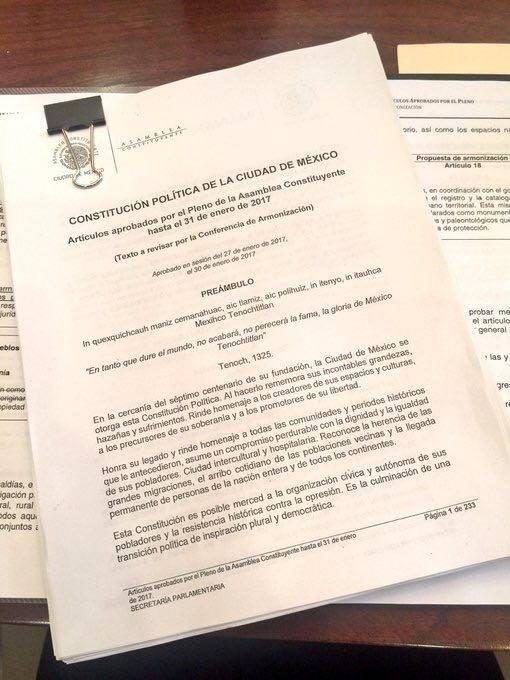 Diez temas clave de la nueva Constitucion CDMX