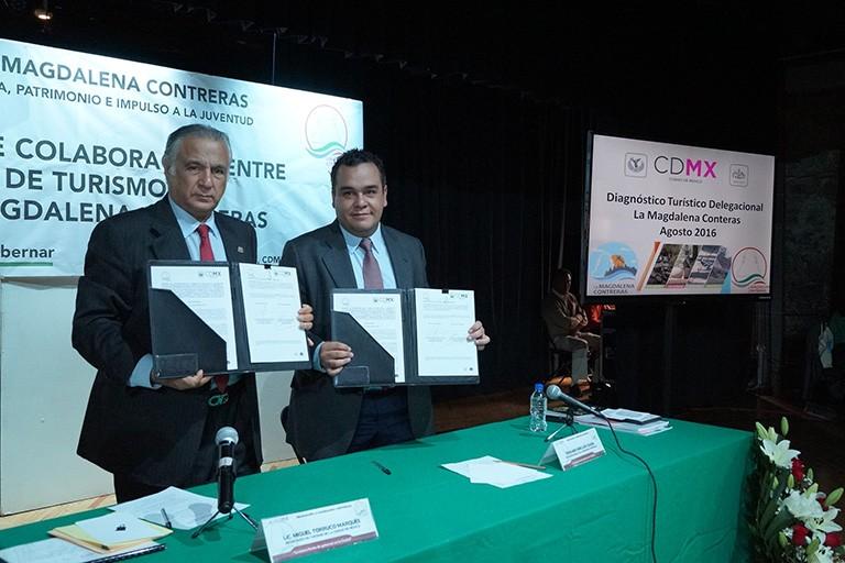 Firman convenio para fortalecer turismo en La Magdalena Contreras
