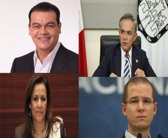 Mancera, Zavala, Zepeda y Anaya... que dicen los militantes