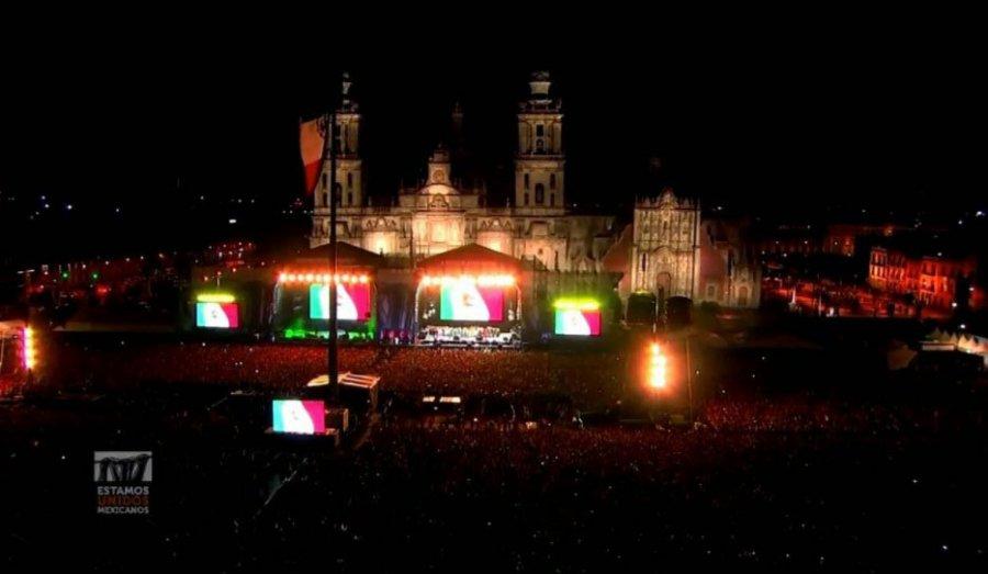 Estamos Unidos Mexicanos reune a 170 mil en el Zocalo