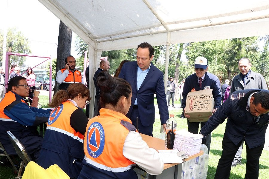 Reune Central de Abasto apoyo para victimas de sismo