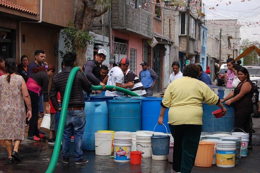 Piden resolver desabasto de agua en Iztapalapa