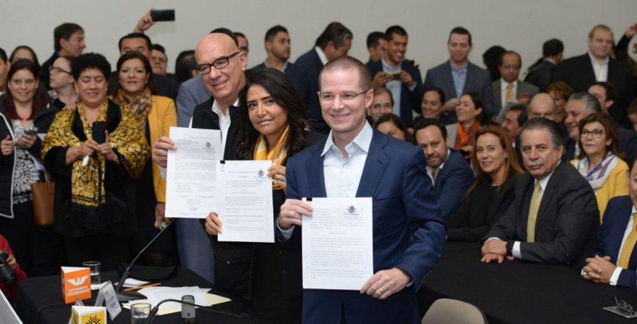 PAN, PRD y MC registran Frente Ciudadano por Mexico