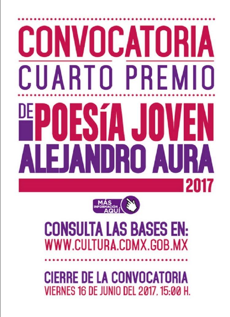 Convocan al Cuarto Premio de Poesia Joven Alejandro Aura