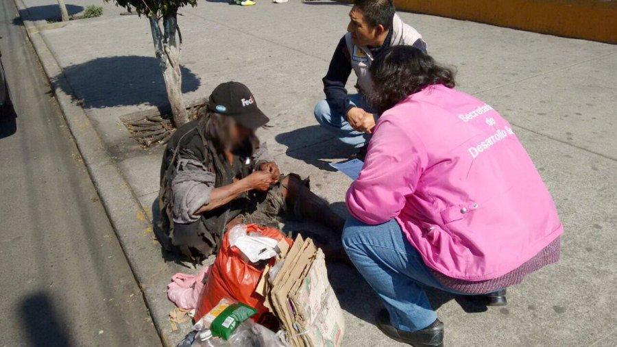 Viven mas de 4 mil personas en las calles de la CDMX