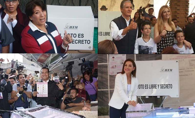 Emiten su voto candidatas y candidatos al gobierno del Edomex