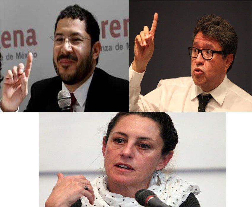 Monreal, Sheinbaum y Batres, ¿Quien ganara el sondeo?