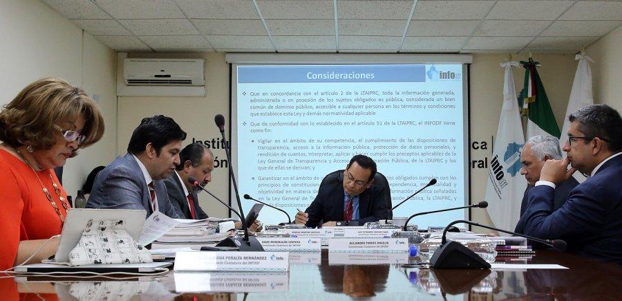 Comision para la Reconstruccion debe rendir cuentas: INFODF