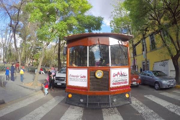 Tranvía turístico en Cuauhtémoc
