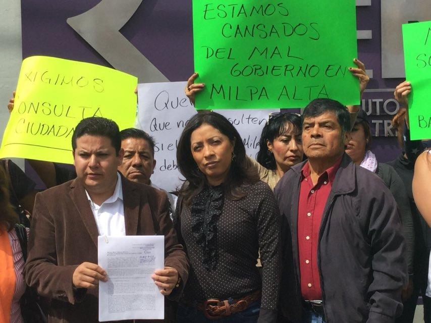 MC busca destitucion del delegado en Milpa Alta