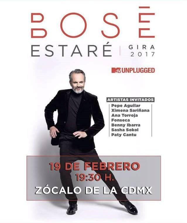 Miguel Bose en el Zocalo