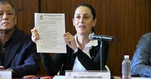Denuncia Sheinbaum a exfuncionarios de Tlalpan por escuela Rebsamen