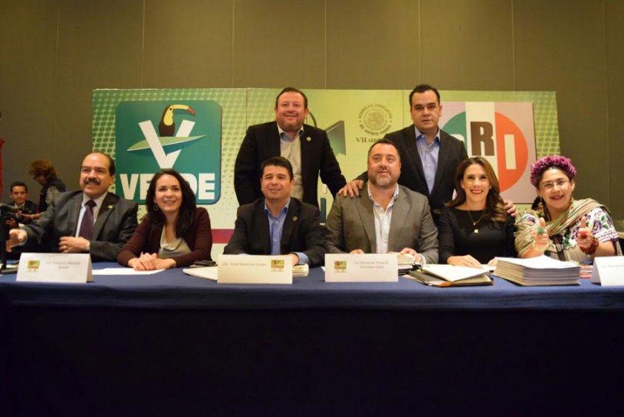 Delinean PRI y Verde agenda legislativa