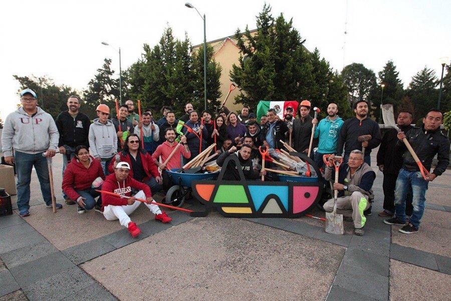 Voluntarios convocados por Xochitl Galvez se solidarizan con Oaxaca