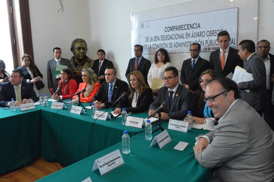 Comparece ante diputados locales delegada en Alvaro Obregon