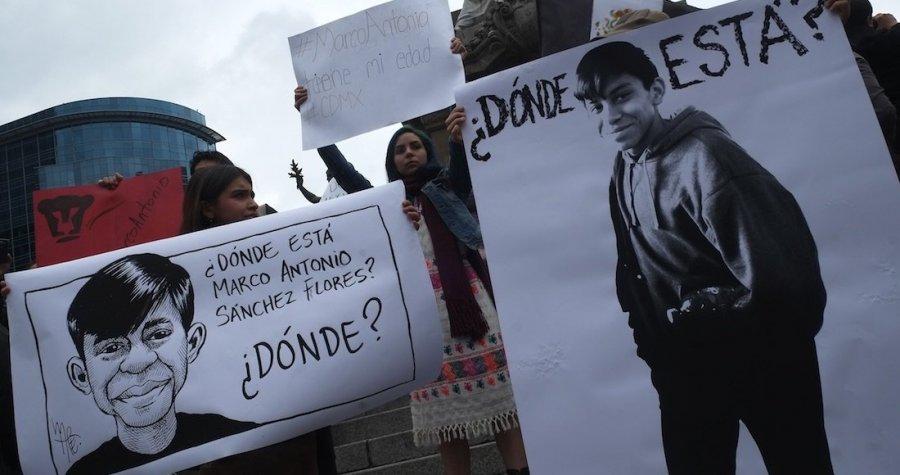El caso de Marco Antonio Sanchez debe investigarse como desaparicion forzada, exige sociedad civil
