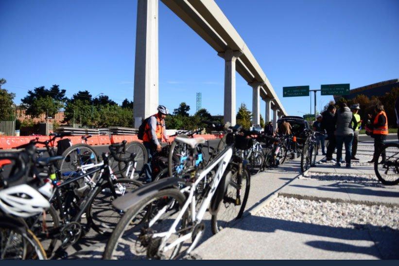Ciclistas realizan #RetoMeade a Santa Fe
