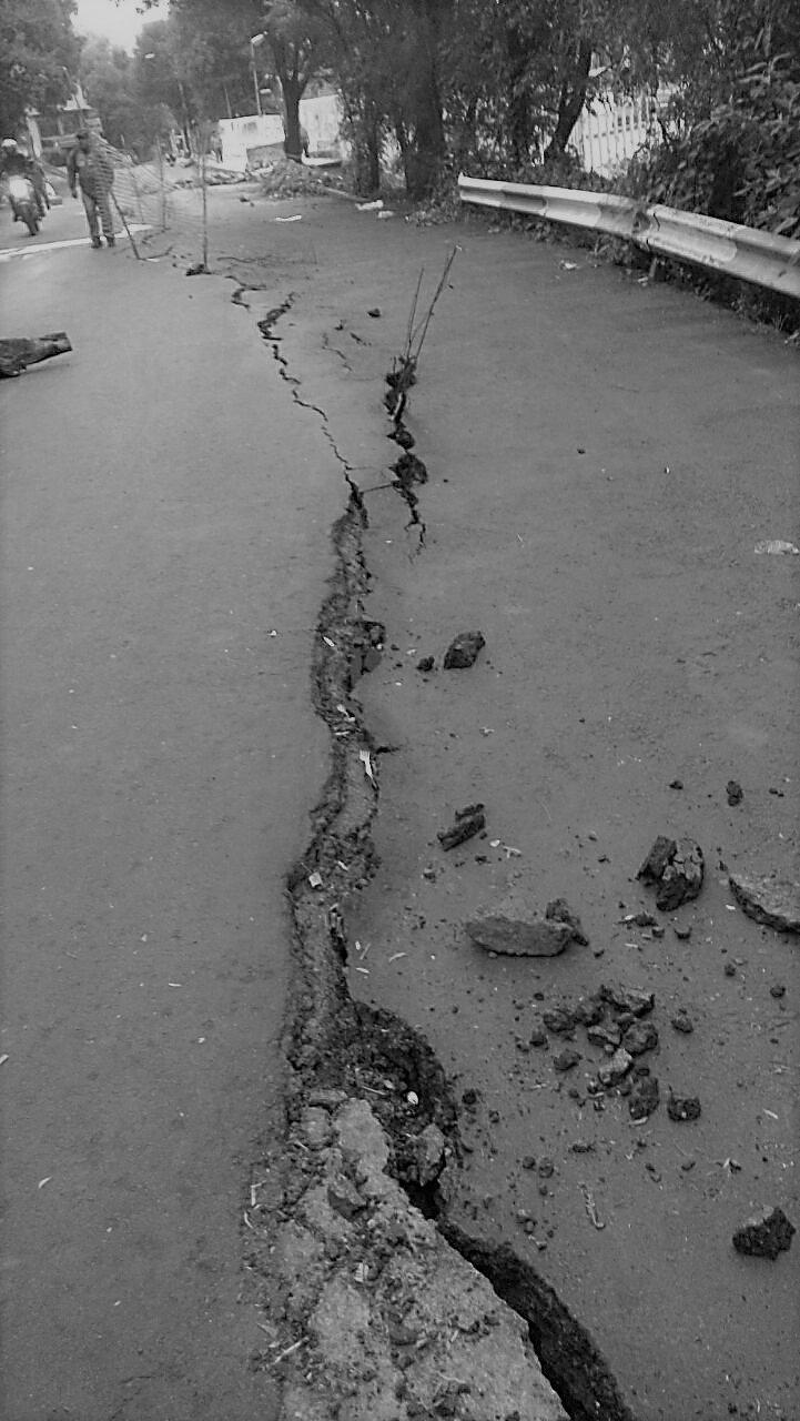 Temen colapso de Carretera Xochimilco-Tulyehualco