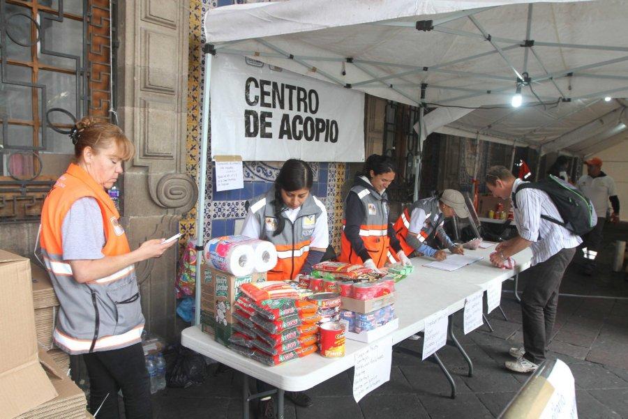 Asambleistas del PRD instalan centros de acopio por sismo