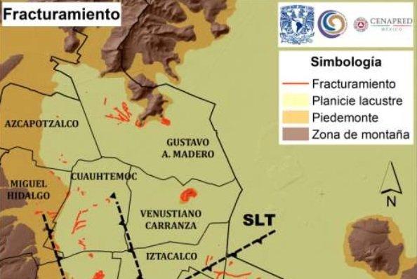 Con mayor numero de fracturas el suelo las delegaciones Benito Juarez y Cuauhtemoc