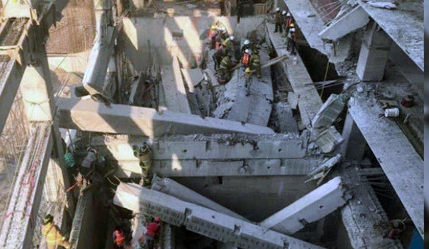 Obra colapsada tiene manifestacion de construccion